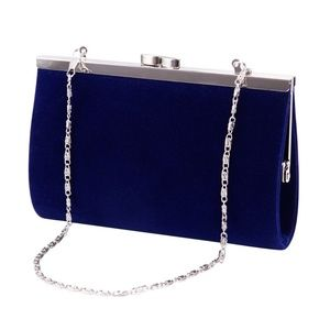 Blue Velvet Mini Clutch Bag